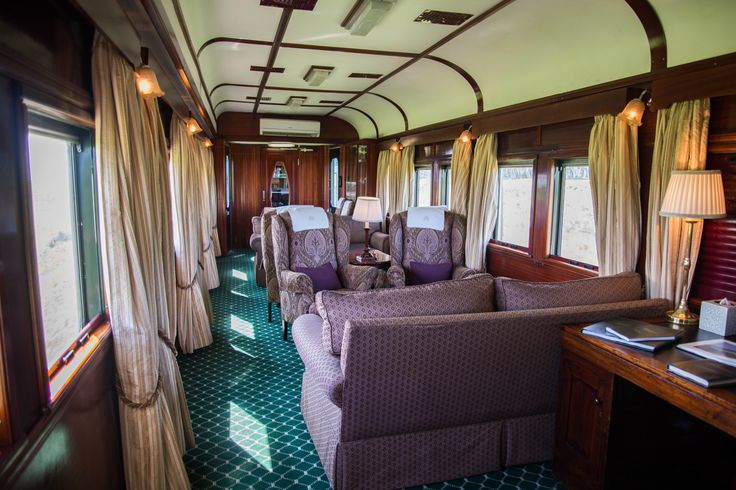 Comfortable sitting lounge on board Rovos Rail. Cape Town to Pretoria. #SouthAfrica #travel #train #rail