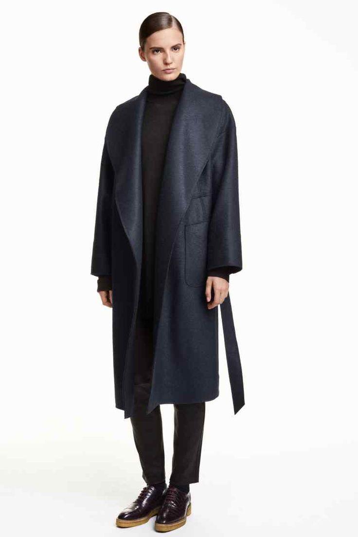 Płaszcz z wełny boucle | H&M