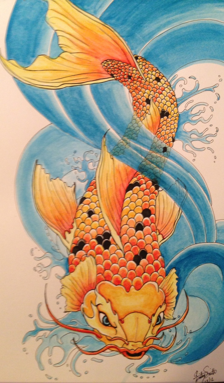 Coy fish - Watercolor
