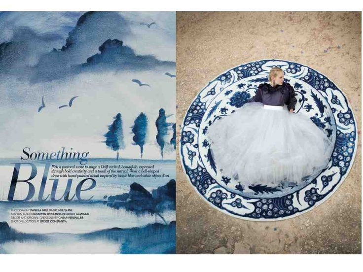 A production for The Wedding Album inspired by Cape Dutch, I created the backdrop paintings and all the decor props.