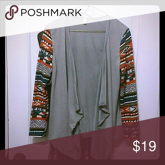 Beautiful Soft Tribal Cardigan Brand new. Received wrong color so im poshing it away! Sweaters Cardigans