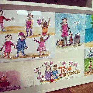 Illustration ccillustrator Framed some of my colorful illustrations for Milas room Cecilia Book Nikolovski » Team Nikolovski´s Blog