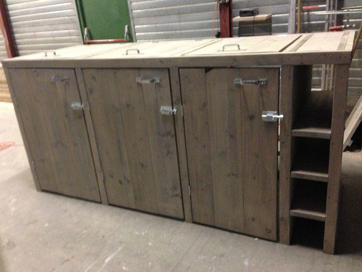 steigerhouten otto / kliko / container ombouw. Eindelijk de container netjes en mooi uit het zicht!! steigerhouten container ombouw