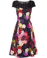 Colourful smart dress