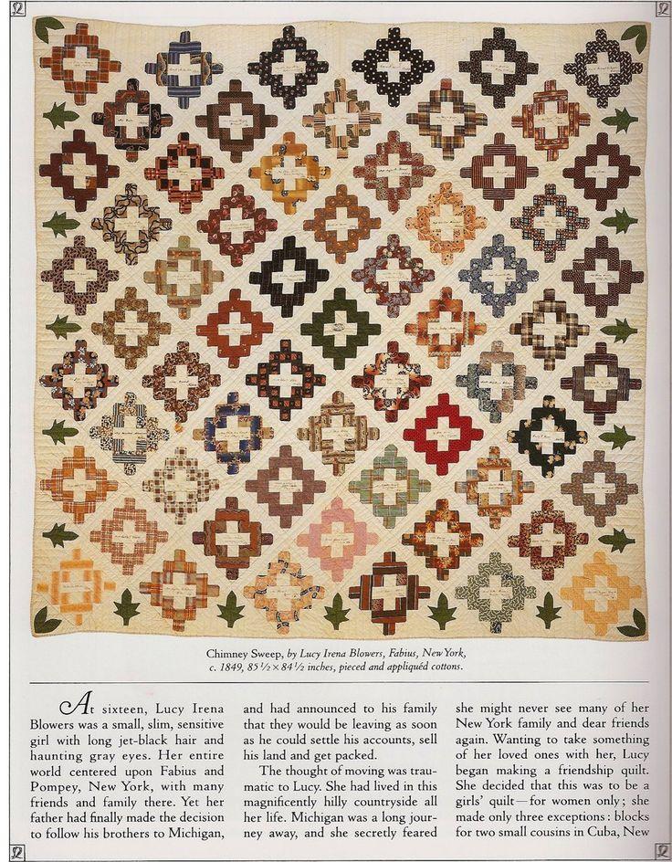 Antique Chimney Sweep quilt c. 1849