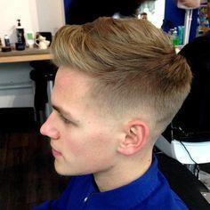 corte de cabelo topete cônico para rapazes