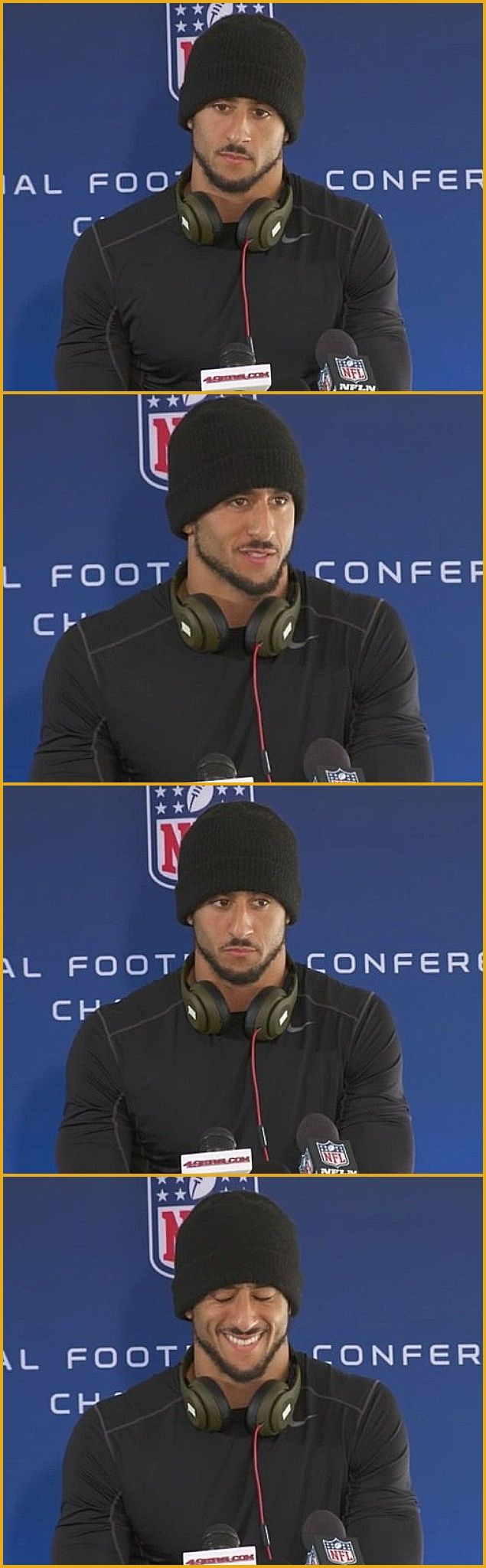 Colin kaepernick. Simple yet still very handsome! ❤️