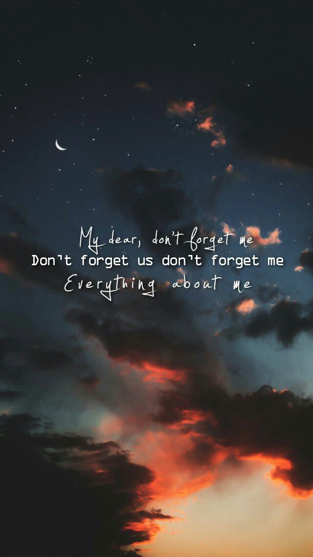 iKON- don't forget me: | iKON | 아이콘 | Wallpaper quotes, Forget me