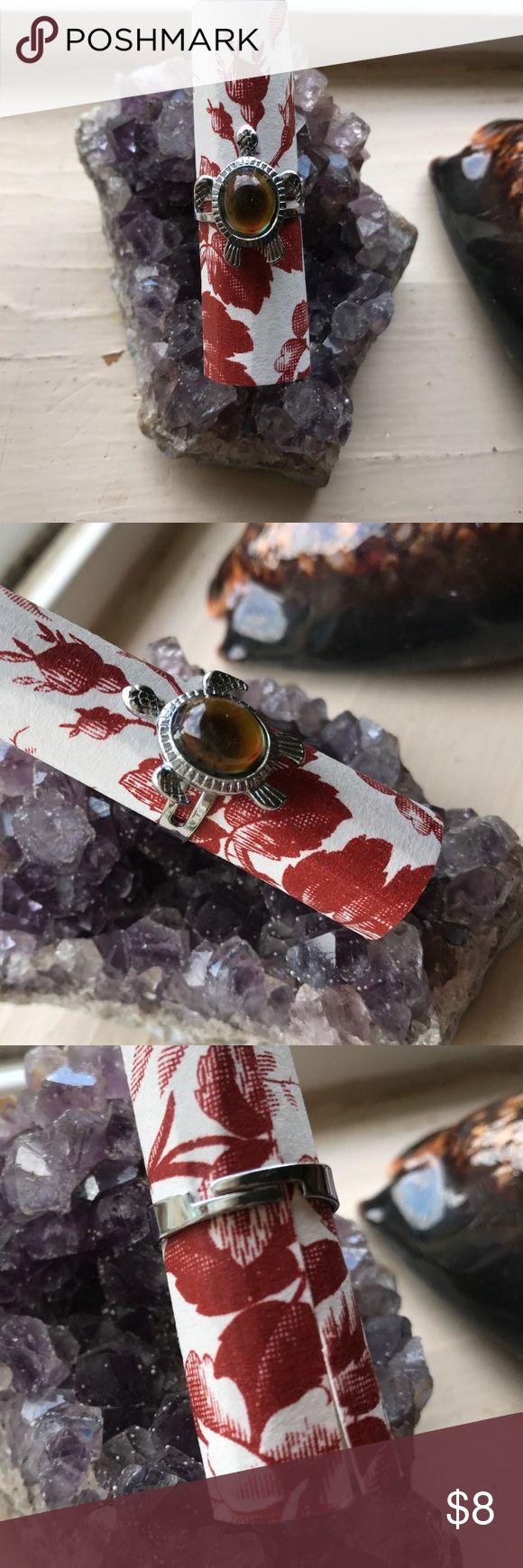 Turtle Gaia Spirit Animal Honu Mood Ring Silver Turtle Mood Ring Jewelry Rings