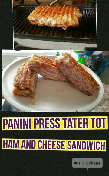 Panini press, Tater tots and Paninis on Pinterest