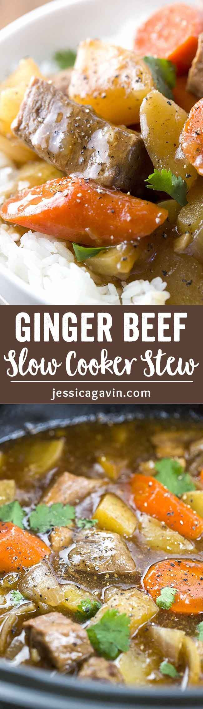 Grandma's Ginger Beef Stew Recipe - A savory ginger beef stew recipe inspired by my grandma's home cooking. A great comfort food for the winter time! via @foodiegavin