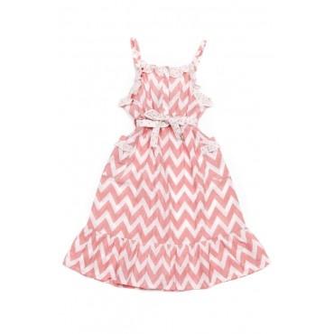 Oobi - Lexie pink chevron dress