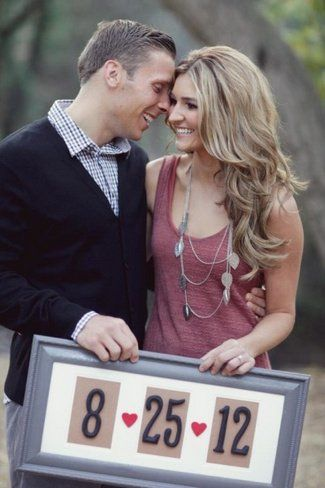 Framed Wedding Save The Date Photo Idea. See more here: 27 Cute Save the Date Photo Ideas | Confetti Daydreams ♥  ♥  ♥ LIKE US ON FB: www.facebook.com/confettidaydreams  ♥  ♥  ♥ #Wedding #SaveTheDate #PhotoIdeas