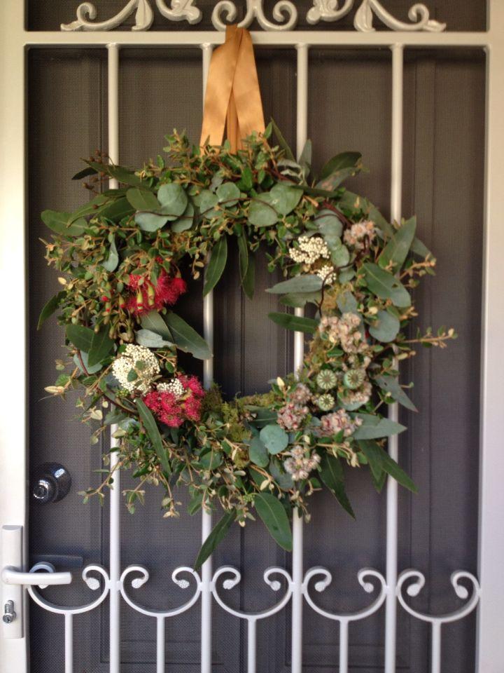 Australian native Christmas wreath. Australia.