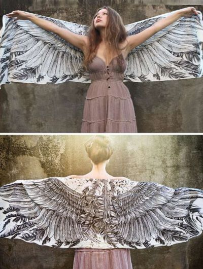 Winged Scarf - lovely if it was three times the size!