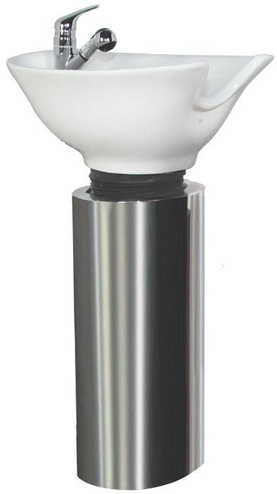 Kaemark tilt bowl shampoo pedestal pedestal shampoo for Shampoo bowls