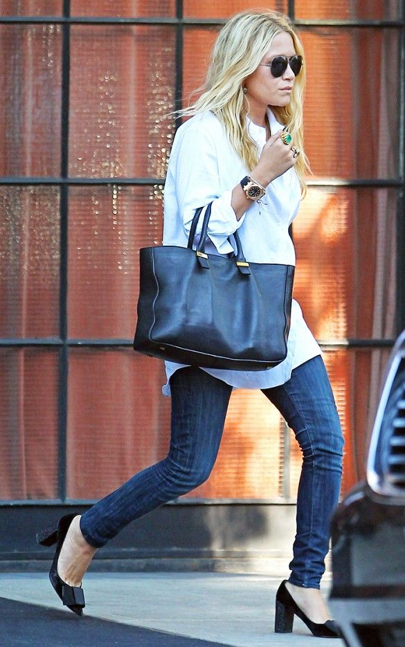 17 Denim Lessons We Learned from Mary-Kate and Ashley Olsen via @WhoWhatWear