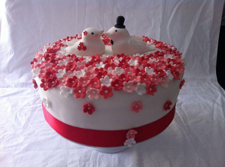 #torta #cake #weddingcake #wedding #sposi #tortasposi #chiryscakes #fiori #uccellini #floral #flowers #matrimonio #cakedesign