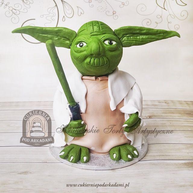 187BA Tort Mistrz Yoda z filmu Gwiezdne Wojny. Yoda cake.