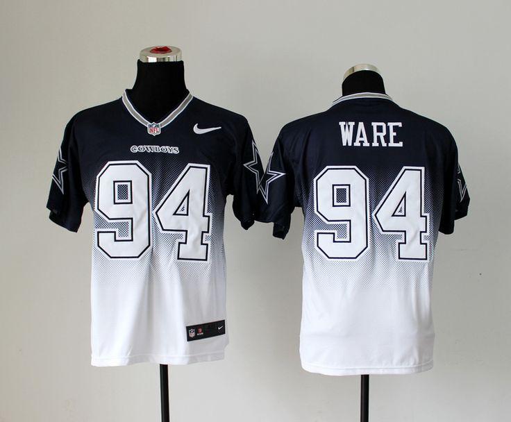 mens nfl dallas cowboys 94 demarcus ware drift fashion elite jersey