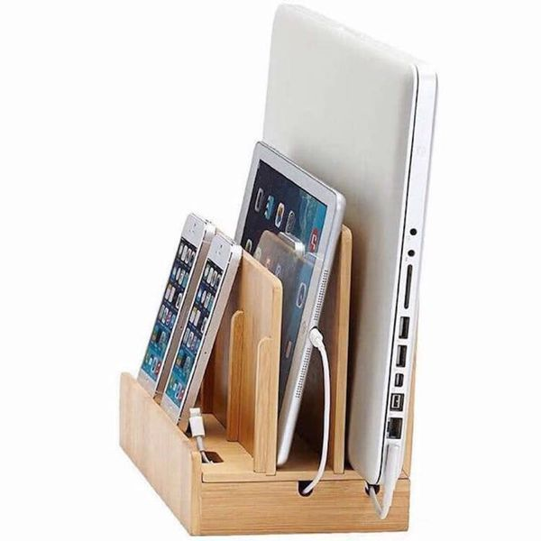 Bamboo Multi Device Charging Station Organizer Buy Online In South Africa Takealot Com In 2020 Charging Station Organizer Multi Charging Station Charging Station