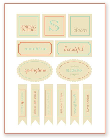 Spring Printables ~ Simple As That    SimplyFreshVintage.com