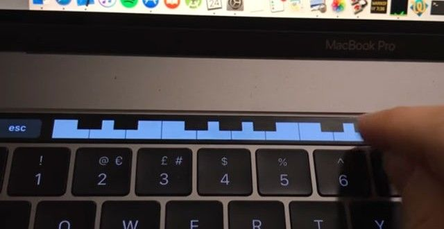 MacBook Pro's Touch Bar now turned into a Mini Piano