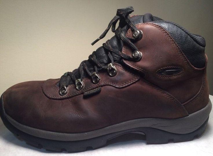 Hi Tec Hiking Boots 12 Wide Leather Altitude II Brown Waterproofed Nubuck 4884  #HiTec #HikingTrail