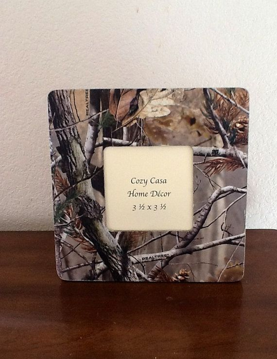 Real Tree Camouflage print picture frame by CozyCasaHomeDecor, $10.00