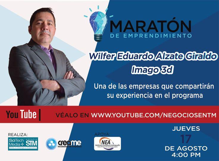 """CREAME on Twitter: """"Hoy en  #MaratóndeEmprendimiento el invitado es @imago3dg empresa que potencia los procesos y operaciones organizacionales. Conéctate 4pm https://t.co/eDRqPRzSD6"""""""