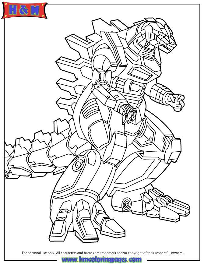 Godzilla Coloring Pages Khai S Bday ぬりえ バースデー