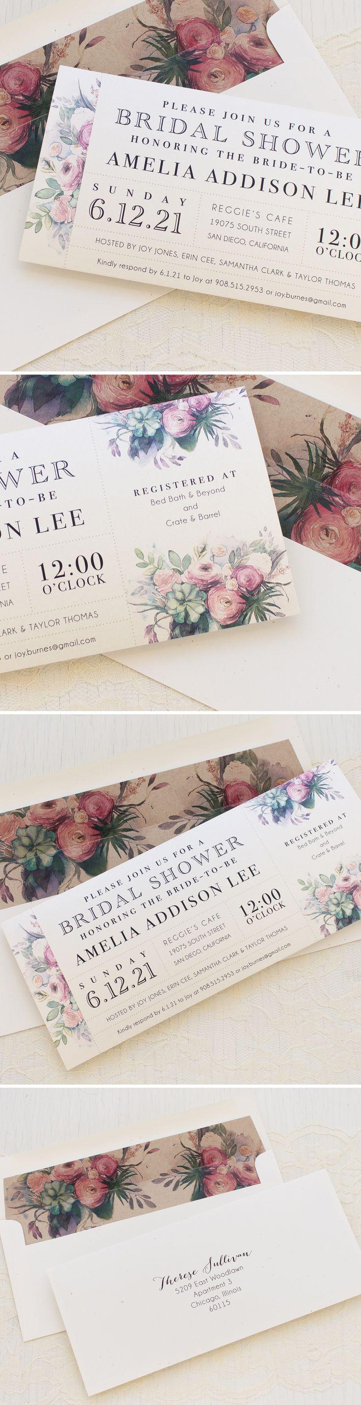 47 Best Bridal Shower Invitations Images On Pinterest Bachelorette