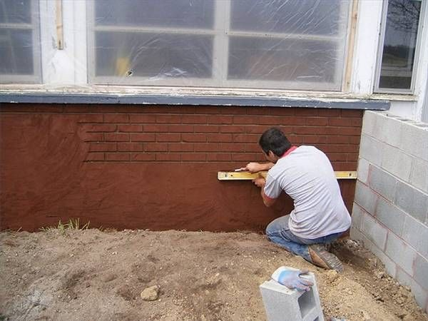 How to make stucco look like brick cinder blocks how to for Concrete block stucco