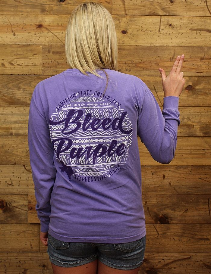 Purple aztec + Tarleton State + Comfort Colors = BEST SHIRT EVER! Grab yours today before they're gone!
