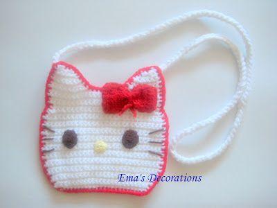 Ema's Decorations: Crochet Hello Kitty Purse - my pattern