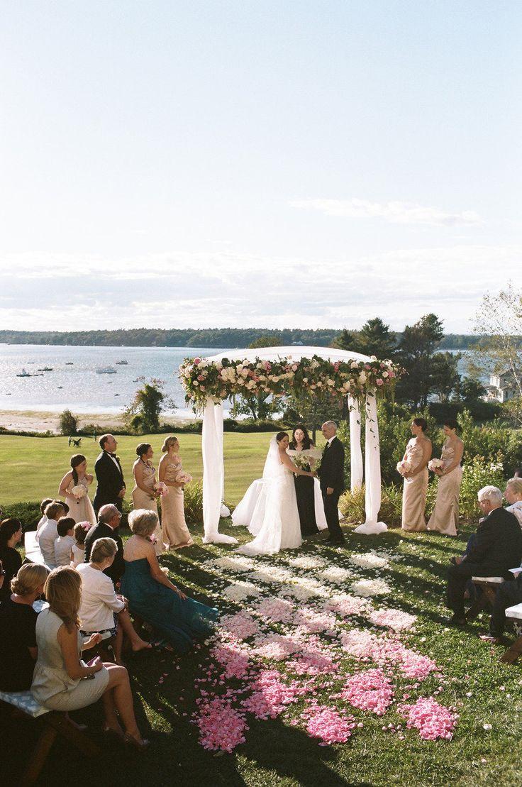 Photography: Liz Banfield - lizbanfield.com Design, Planning, Florals, Invitations: Florabella Weddings - florabellaweddings.com  Read More: http://www.stylemepretty.com/2013/02/21/chebeague-maine-nautical-wedding-from-liz-banfield/