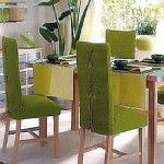 : Green Vintage slipcovers for dining chairs