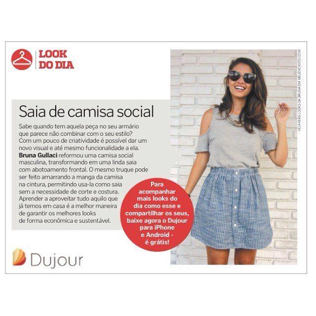 Saia feita a partir de uma camisa social. Reforma de roupas, camisa em saia de botões evasê. #blogdemoda #dujour #estilo #reforma