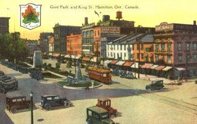 Gore Park and King St. The Post Card & Greeting Card Co. Ltd., Toronto