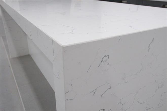 'Bianco Venato Quartz' - Designer Home Concept Centre VIC : Residential Gallery : Gallery : Quantum Quartz, Natural Stone Australia, Kitchen Benchtops, Quartz Surfaces, Tiles, Granite, Marble, Bathroom, Design Renovation Ideas. WK Marble & Granite Pty Ltd Australia.