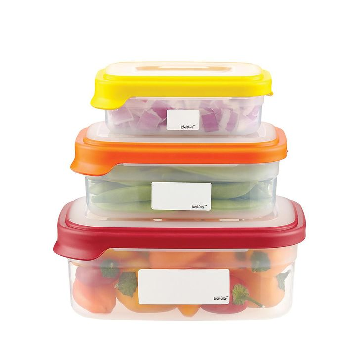 Enjoy free shipping on all purchases over $75 and free in-store pickup on the Erasable Food Storage Labels at The Container Store. Make identifying your frozen and refrigerated foods, convenient and fool proof with our Erasable Food Storage Labels. The labels go from freezer or refrigerator, to microwave, to dishwasher without missing a beat! A little more care must be exercised to ensure the labels will not peel off in the dishwasher and that the ink will not be made difficult to remove…