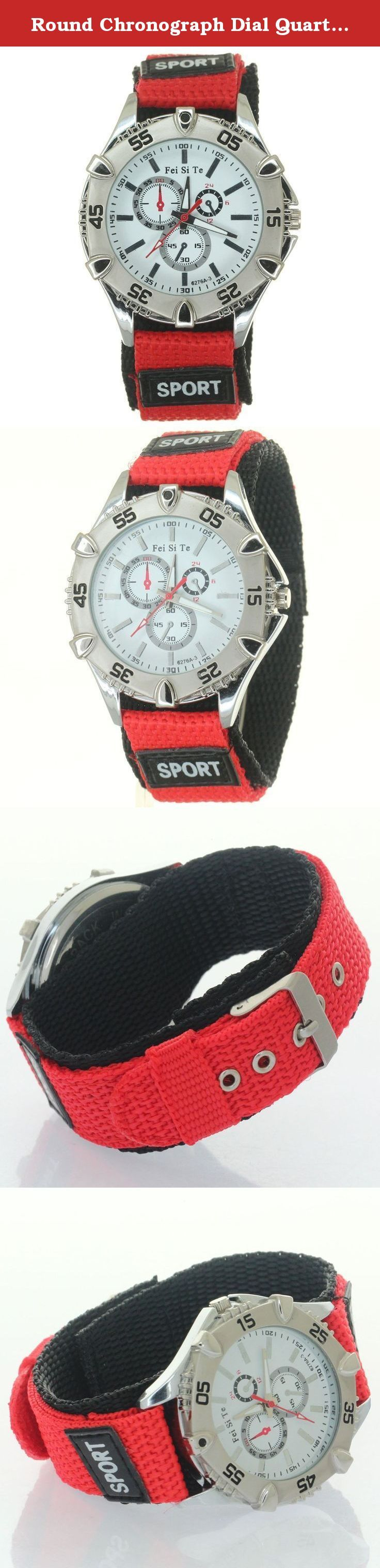 Round Chronograph Dial Quartz Outdoor Sport Red Weave Nylon Strap Belt Fabric Velcro Luminous Marks. Round Chronograph Dial Quartz Outdoor Sport Red Weave Nylon Strap Belt Fabric Velcro Luminous Marks Sports Quartz Bezel Crown Men Women Wristwatch Nylon Strap Belt Stripe Fiber Fabric Velcro Buckle Woven Nylon Watch Strap Fabric Band Velcro Buckle Sports Quartz Bezel Crown Men Women Kid Wristwatch Double Layer Nylon Watch Strap Velcro Fastener Polished Buckle Functional uni-direction bezel...