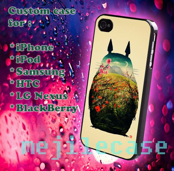 Colorful totoro iphone 4/4s iphone 5/5s/5c Bleckberry by mejile, $12.10