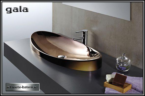 Lavoar oval Klea culoare bronz metalizat