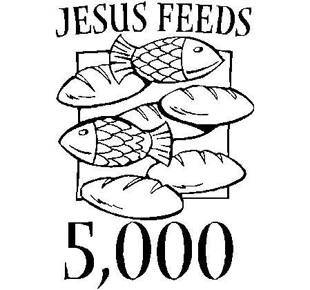 online coloring pages jesus feeds 5000
