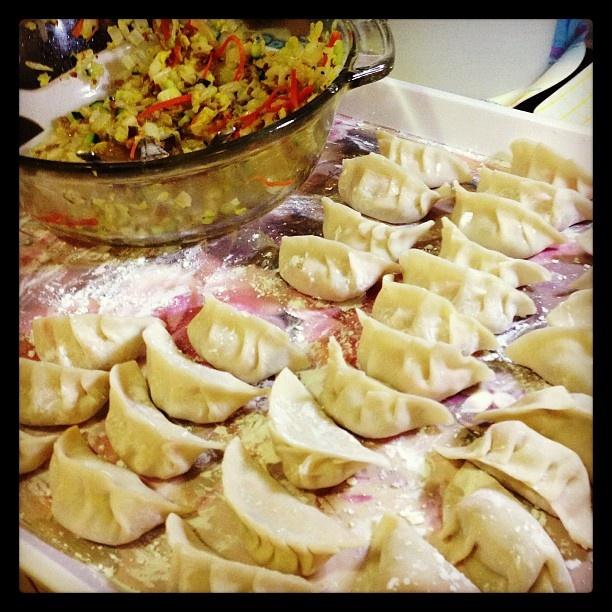 Making dumpling~