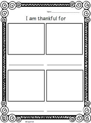 Free Printable: Today I am Thankful for…