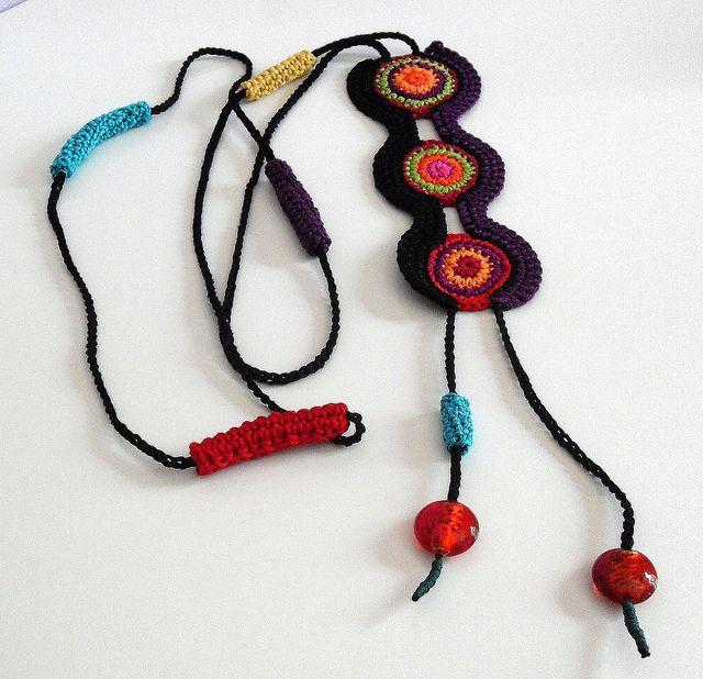 ETHNIC (02) - Handknit Crochet Necklace | Flickr - Fotosharing!