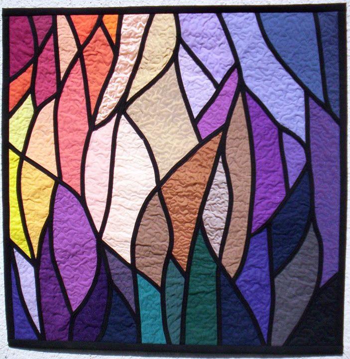 Stained glass art quilt by Anna Slawinska (Poland)