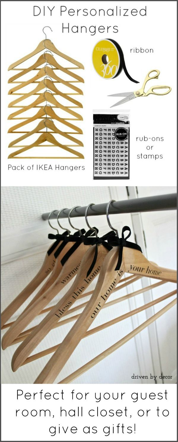 DIY Personalized Hangers - Perfect for your Guest Room, Hall Closet, or to Give As Gifts!